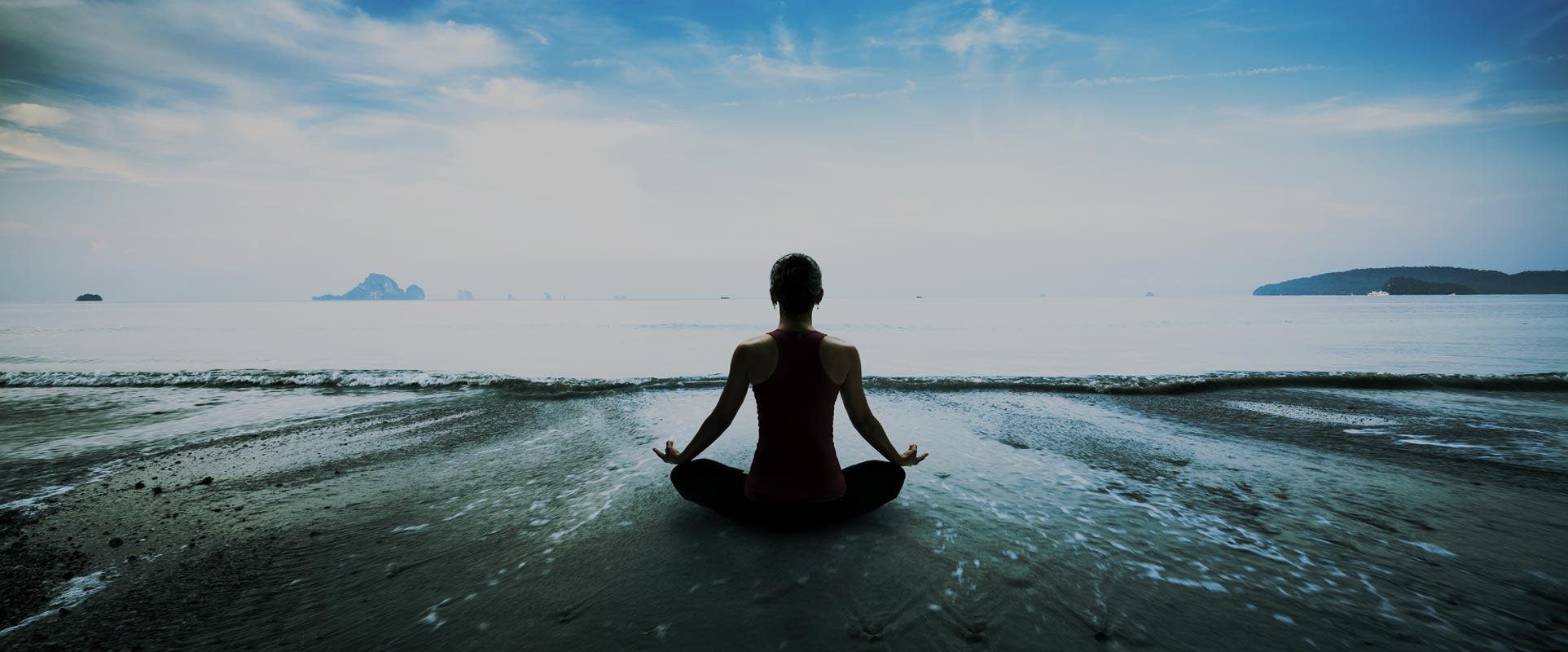 Letting Go - Yoga position on beach