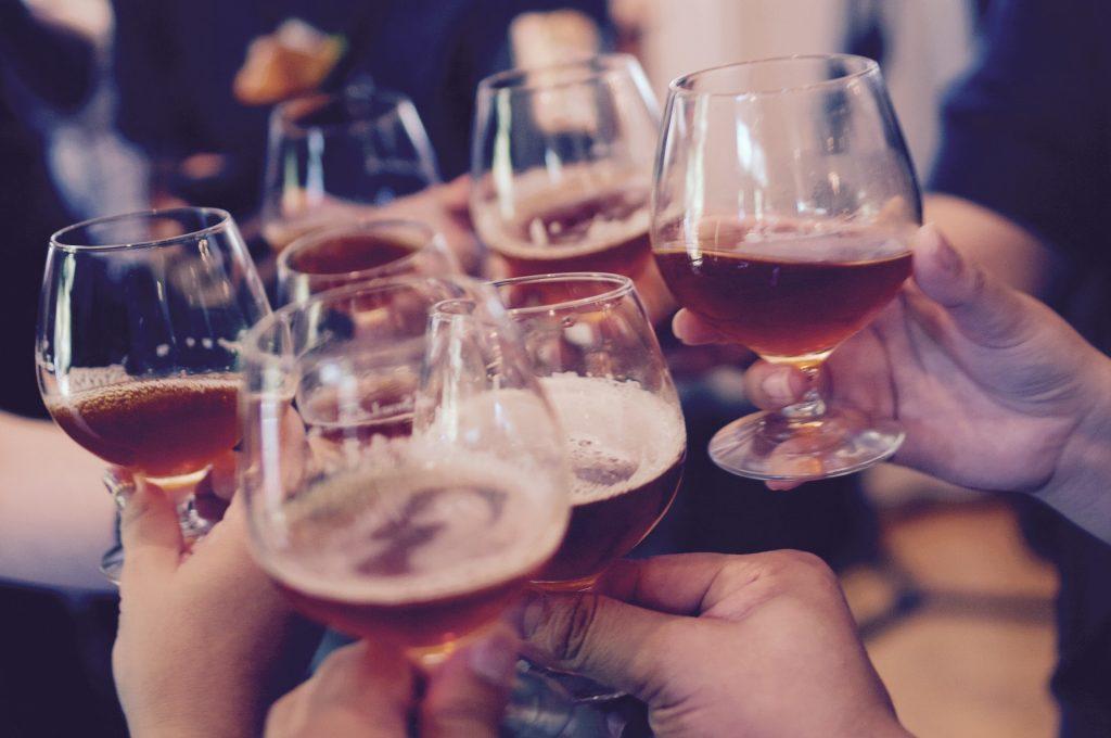 hangover - drinking glasses